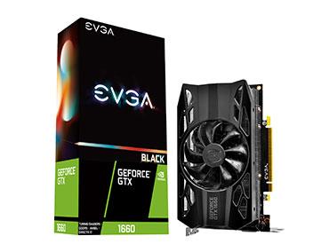 PLACA DE VIDEO EVGA GEFORCE® GTX 1660 BLACK GAMING - 6GB GDDR5