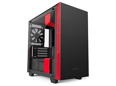 GABINETE NZXT H400I MATTE BLACK/RED