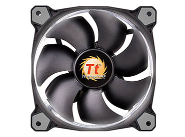 Cooler pack Thermaltake Riing 12 LED White (pack de 3 ventiladores)