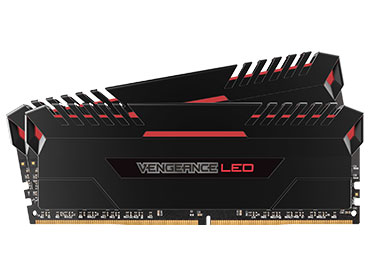 Memoria Ram Corsair Vengeance® LED DDR4 16GB 2666MHz (2x8GB) - LED Red