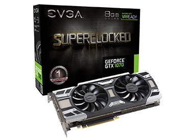 Placa de Video EVGA GeForce® GTX 1070 SC GAMING ACX 3.0