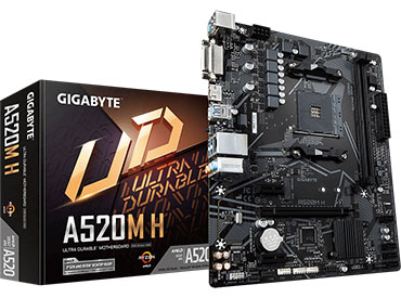 Mother Gigabyte A520M H Socket AM4