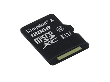Tarjeta de Memoria Kingston MicroSDXC 128 GB con Adaptador