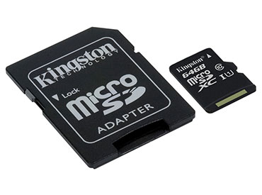 Tarjeta de Memoria Kingston MicroSDXC 64 GB con Adaptador