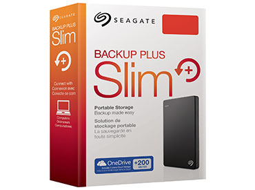 Disco Rígido portátil Seagate Backup Plus Slim 2TB USB 3.0