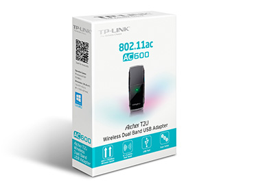 Adaptador de red USB wireless Banda Dual AC600 TP-Link ARCHER T2U