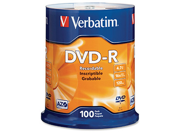 DVD-R Virgen Verbatim 4.7 Gb Pack Spindle x 100 unidades
