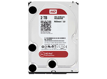 Disco Rígido WD Red 2 TB SATA3 64MB Buffer (WD20EFRX)