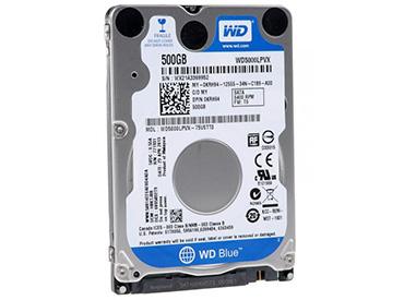 Disco Rígido para Notebook WD Blue 500 GB SATA3 8MB Buffer (WD5000LPVX)