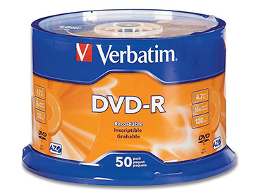 DVD-R Virgen Verbatim 4.7 Gb Pack Spindle x 50 unidades
