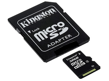 TARJETA DE MEMORIA KINGSTON MICROSDHC 32 GB CON ADAPTADOR